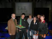 Premiati dal Dirigente scolastico dell'Einstein, prof. Alfredo Menichelli.