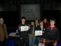 il primo premio alla 3L, scuola media Verdi, Roma